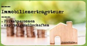Immobilienertragsteuer Konrad Kolbe KonradKolbe.com