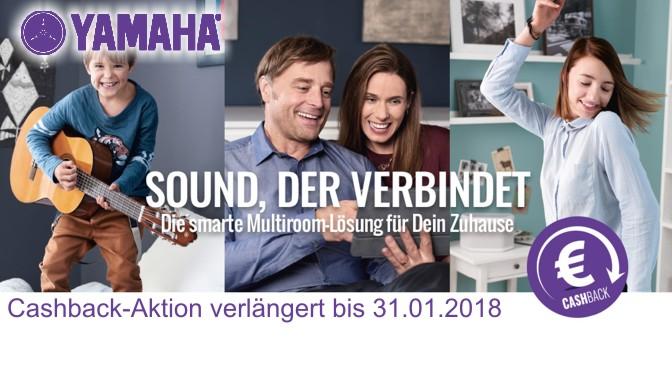 Yamaha verlängert die MusicCast Cashback-Aktion bis 31.01.2018
