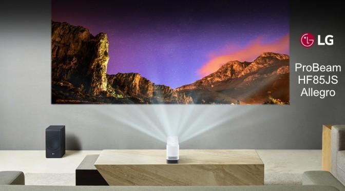 Hardwaretest: LG ProBeam HF85JS Allegro - beam die Wand an
