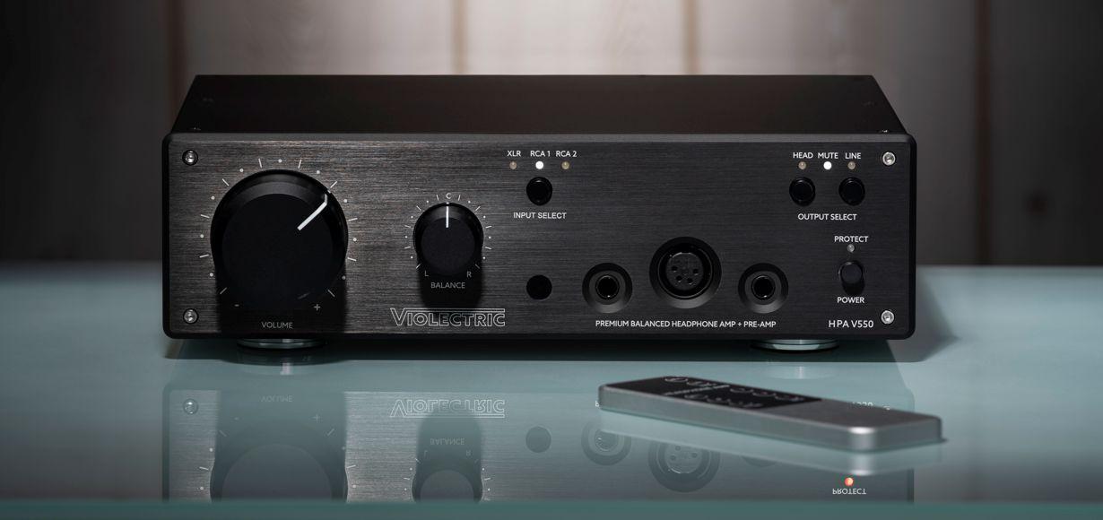 Violectric HPA V550: hochwertiger Kopfhörerverstärker und Preamp für absolute Klangtreue