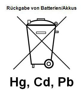 Rückgabe von Batterien/Akkus