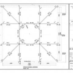 Gambar Rangka Atap Baja Ringan Limasan Konstruksi Masjid Nurul Huda Belitung Timur ...