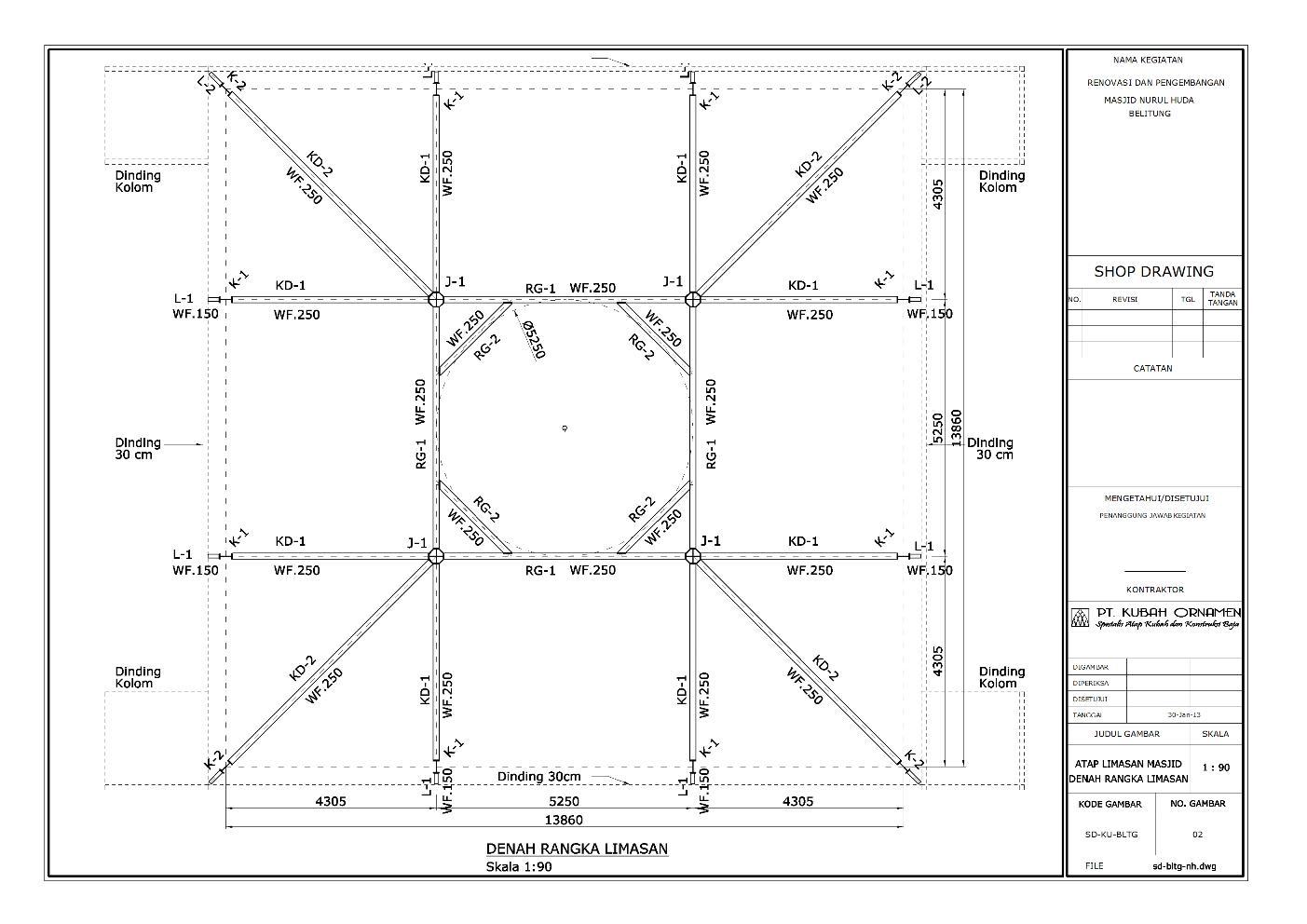 rumus kuda jurai baja ringan desain konstruksi atap wf besi berat cv