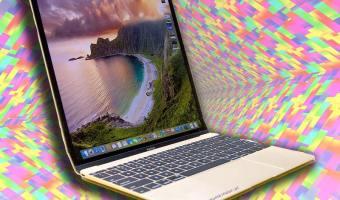 macbook gold im hochformat