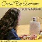 Cereal Box Syndrome –an effective way to teach