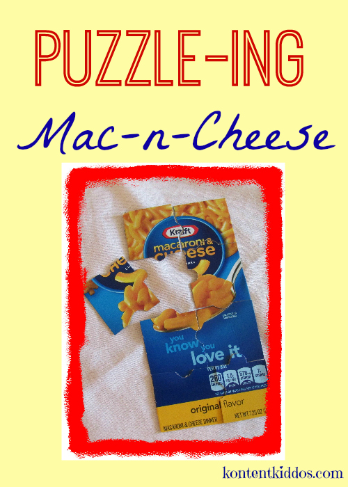 Turning Mac-n-Cheese boxes into puzzles!