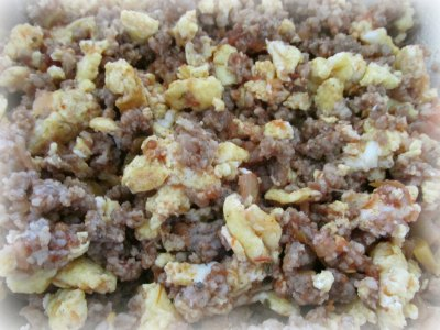 sausage egg mixture