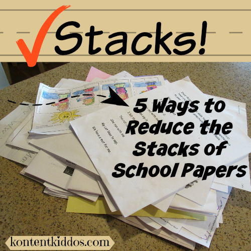 5 ways to reduce the stacks of school papers