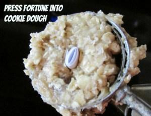 press fortune into dough