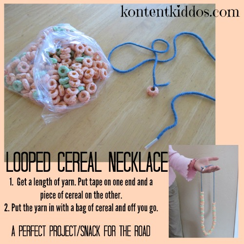 looped cereal necklace