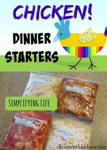 Chicken Dinner Starters