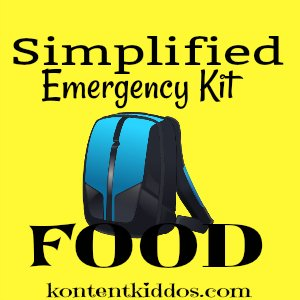 Simplified Emergency Kit – Food