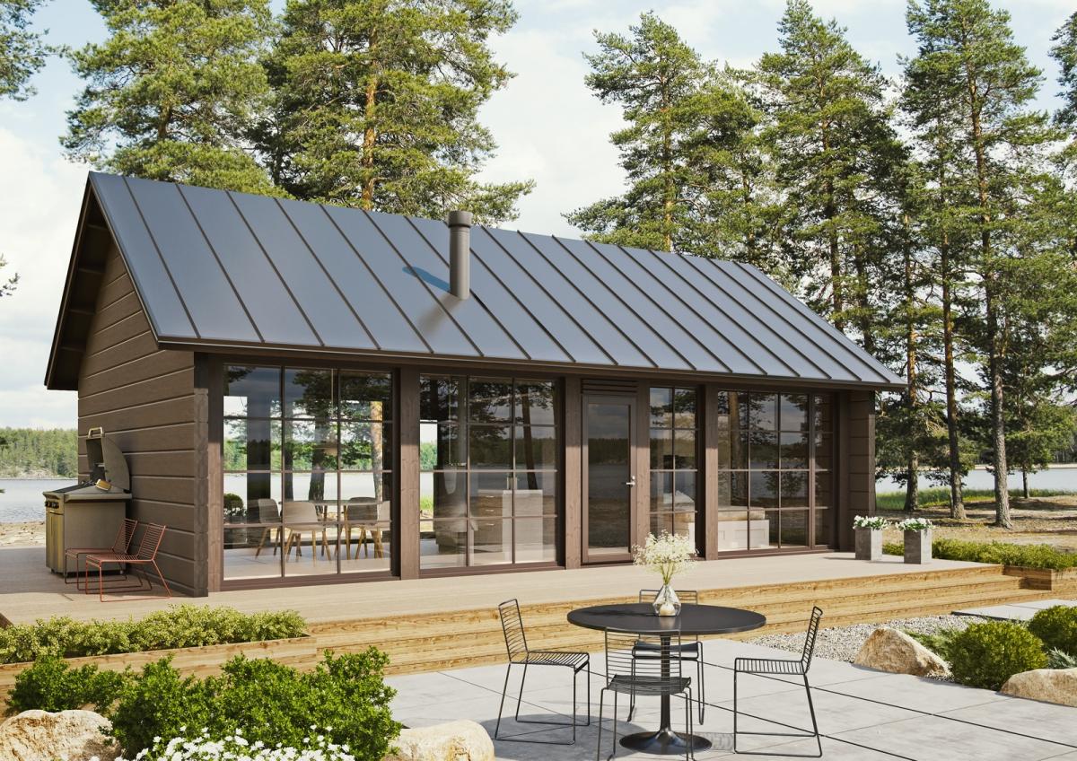 Log Cabin Glass House