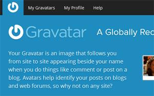 Gravatar screenshot