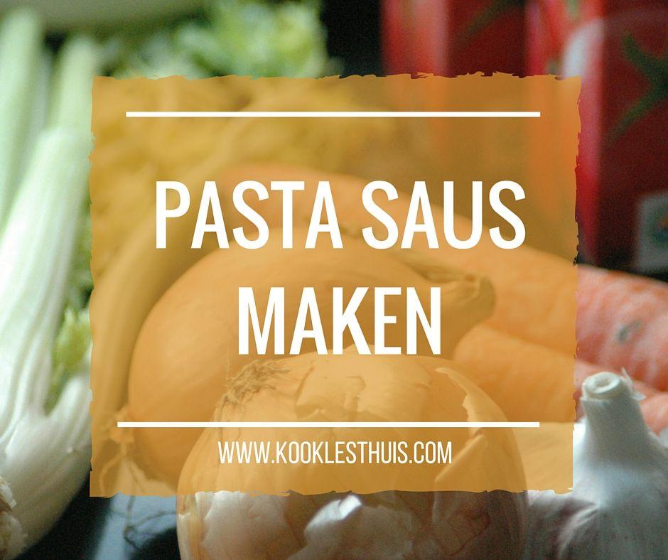 pastasaus maken