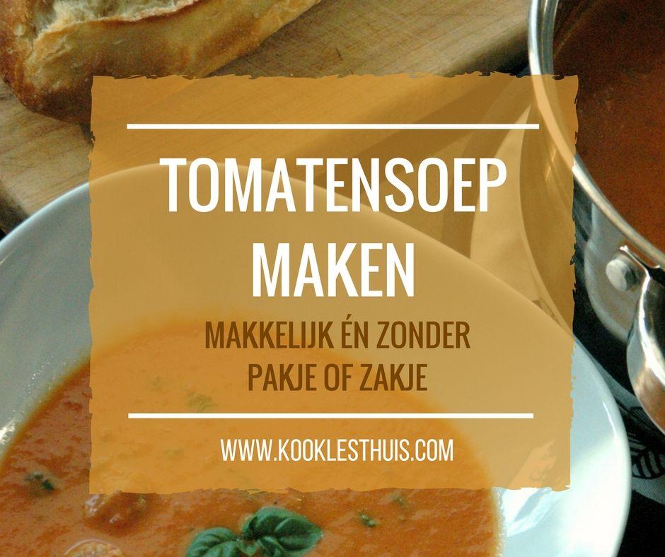 tomaten soep maken