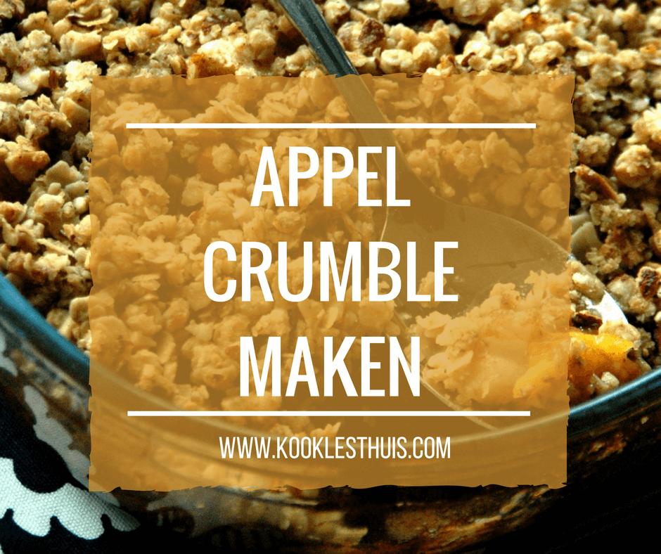 Appel crumble maken