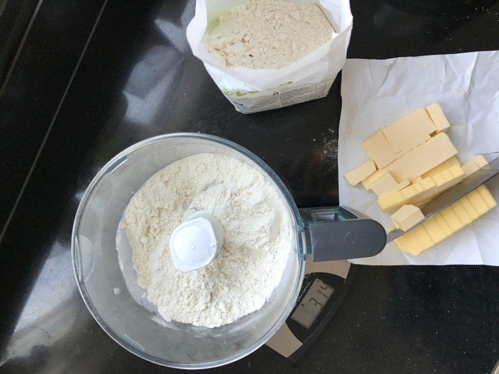 Deeg voor hartige taart gemaakt met Magimix