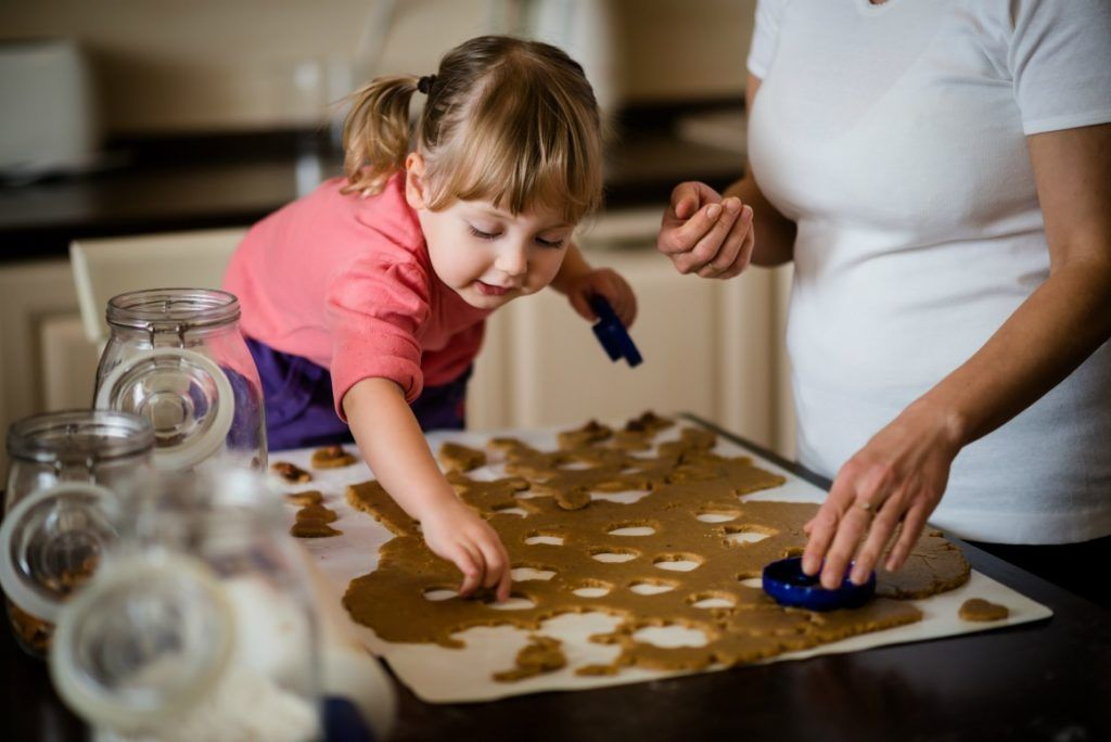 Koekjes bakken met kinderen