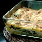 Lasagne met zalm en verse spinazie