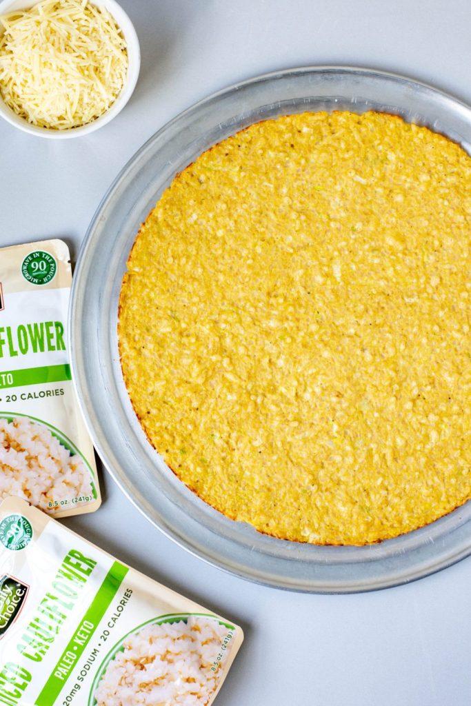 Cauliflower Parmesan Pizza Crust