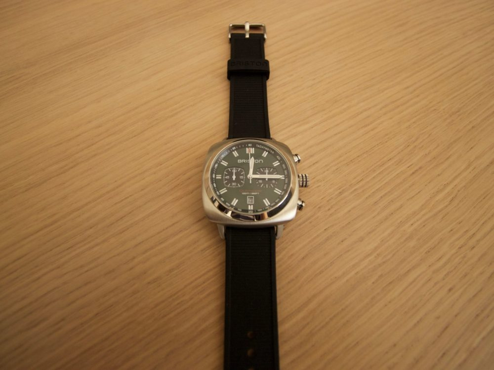 Montre Briston Clubmaster Acier - Chronographe cadran gris mat