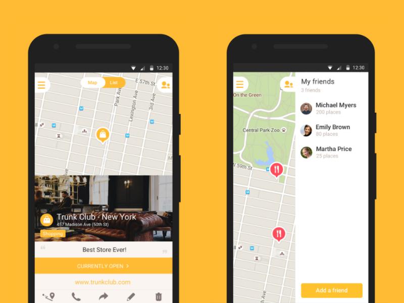 Applications smartphone - Mapstr
