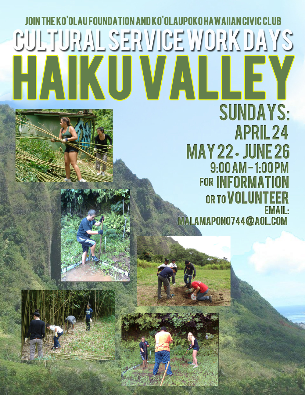 Haiku Valley Cultural Service Workday