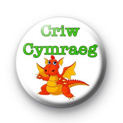 Cute Childrens Welsh Dragon Criw Cymraeg Badge Kool Badges