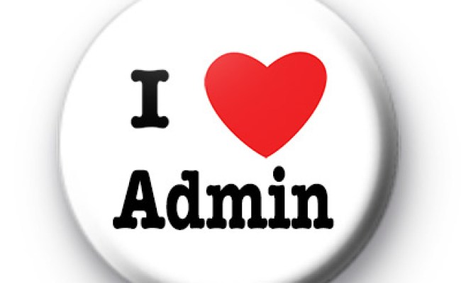 I Love Admin Badges Kool Badges