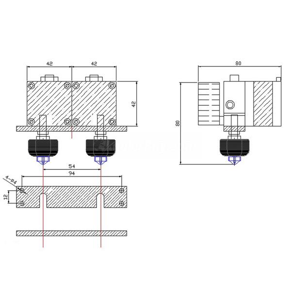 Product Image Of Koolertron 0.4mm Nozzle Extruder Print