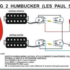 3 Pickup Les Paul Wiring Diagram 1974 John Deere 140 Koolguitars Per Chitarra Elettrica Strato Sg 2 Humbucker Standard Switch Vie Concontrollo Volumi Separati