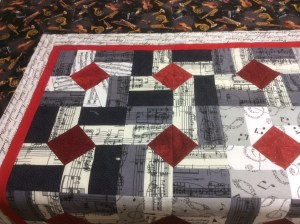 Pam's musical theme quilt