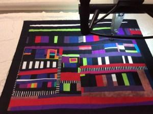 Techno cot quilt
