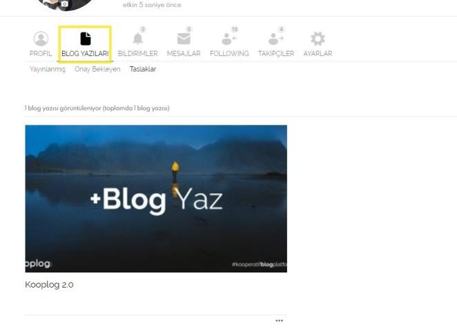 kooplog profil blog yazıları