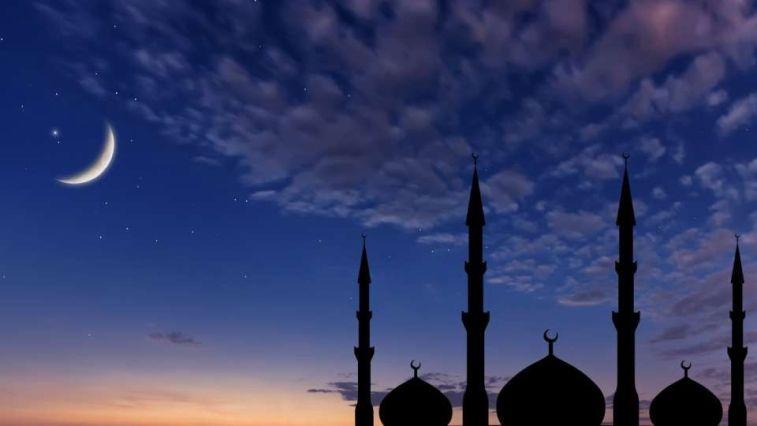 ramazanda gece cami ve gökyüzü