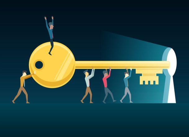 başarının anahtarı motivasyon illustrasyon