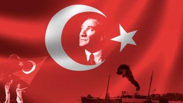 türk bayrağı ve atatürk