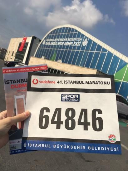 istanbul maratonu göğüs numarası ve t-shirt