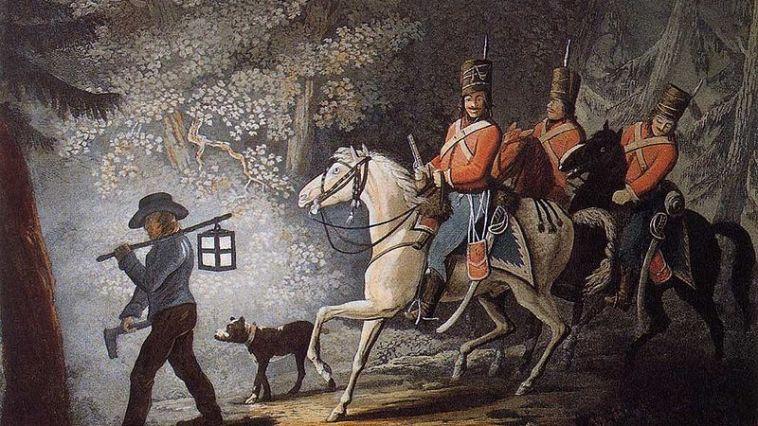 Amerikan Bağımsızlık Savaşı'nda askerlere yol gösteren bir çiftçi