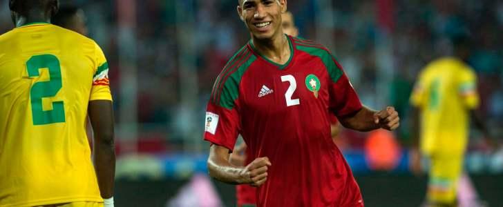 أشرف حكيمي يغيب عن المعسكر الإعدادي للمنتخب المغربي لنهائيات كأس العالم 2018