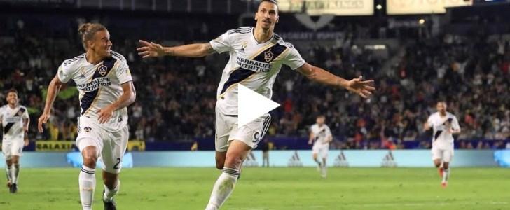 فيديو: ابراهيموفيتش يستعيد شبابه ويسجل هدف رائع