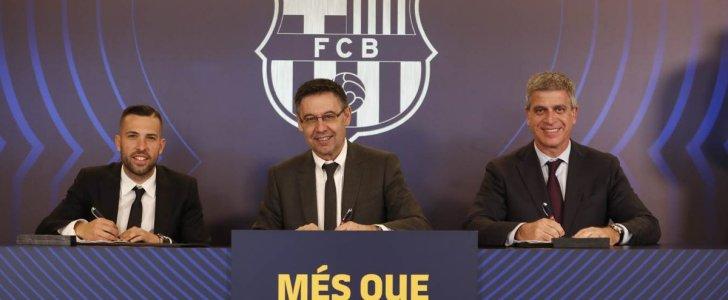 برشلونة يجدد تعاقده مع جوردي ألبا حتى 2024 رسميا