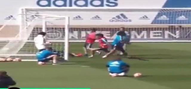 مرواغات وأهداف رائعة من مارسيلو في تداريب ريال مدريد قبل لقاء اياكس