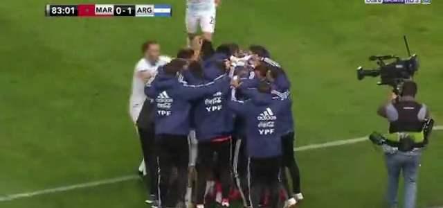 فيديو: هدف مباراة المغرب والارجنتين 0-1 مباراة ودية