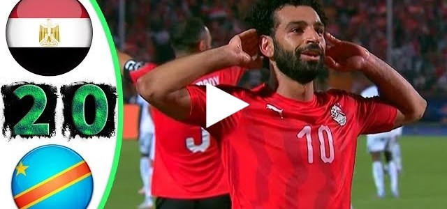 أهداف مباراة مصر والكونغو الديموقراطية 2-0 تألق صلاح - كأس أمم إفريقيا