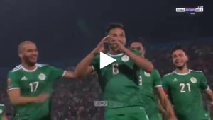 هدف المنتخب الجزائري الاول في مرمى السنغال