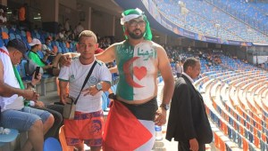 توافد الجماهير الجزائرية على ملعب القاهرة استعدادا لنهائي أمم إفريقيا