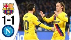 ملخص مباراة نابولي ضد برشلونة