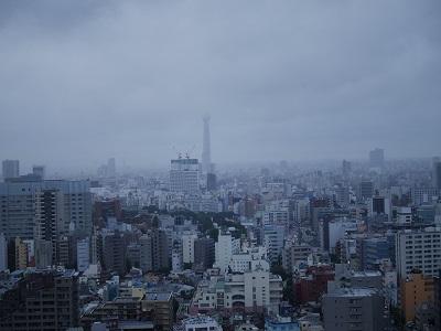 東京スカイツリーの上は雲の中だった